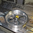Machining of an aluminum wheel